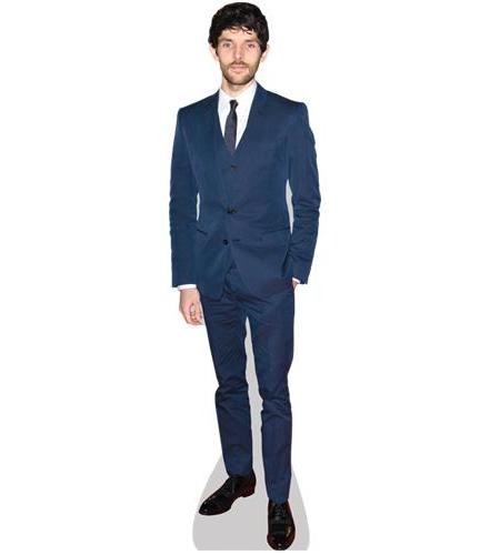 A Lifesize Cardboard Cutout of Colin Morgan wearing a blue suit