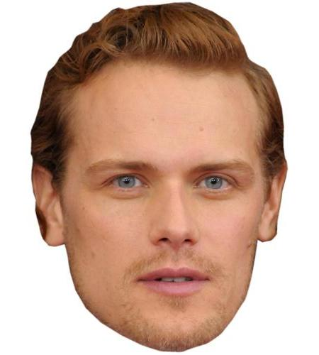 A Cardboard Celebrity Big Head of Sam Heughan