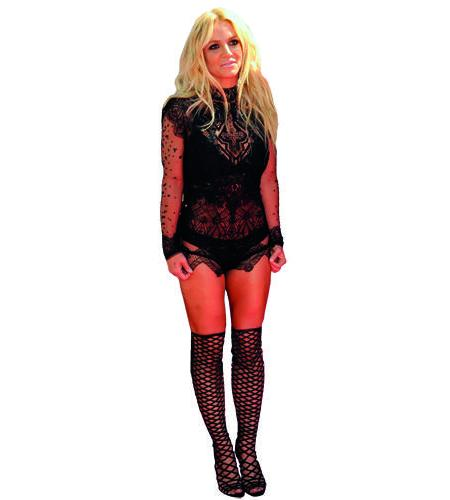 A Lifesize Cardboard Cutout of Britney Spears wearing lace