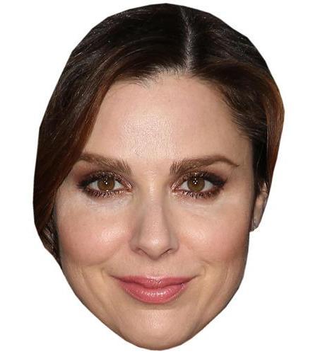 A Cardboard Celebrity Big Head of Cara Buono