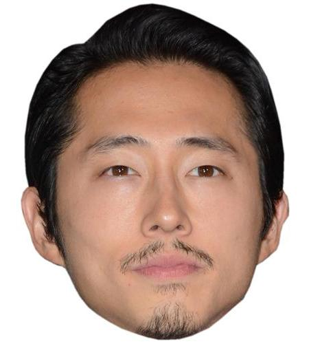 A Cardboard Celebrity Big Head of Steven Yeun