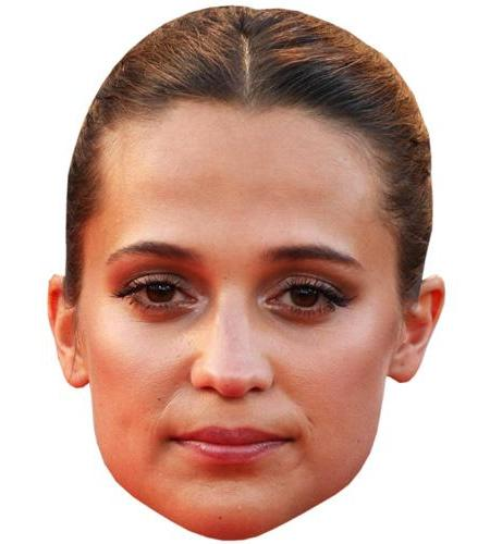 A Cardboard Celebrity Big Head of Alicia Vikander