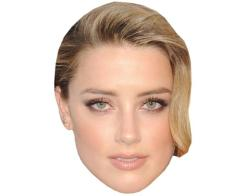 A Cardboard Celebrity Mask of Amber Heard