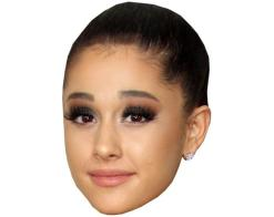 A Cardboard Celebrity Mask of Ariana Grande