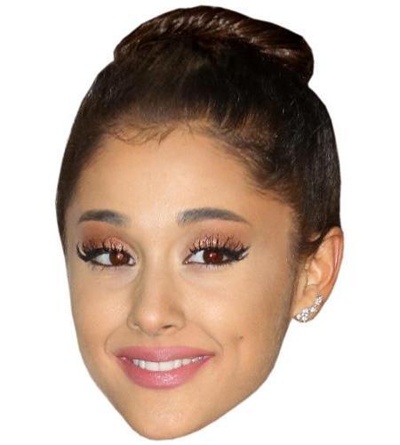 A Cardboard Celebrity Big Head of Ariana Grande (Hair Up)