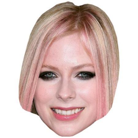 A Cardboard Celebrity Big Head of Avril Lavigne