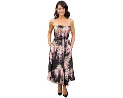 A Lifesize Cardboard Cutout of Carla Gugino wearing a floral dress