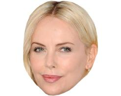 A Cardboard Celebrity Mask of Charlize Theron