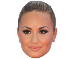 A Cardboard Celebrity Mask of Demi Lovato