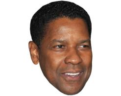 A Cardboard Celebrity Mask of Denzel Washington