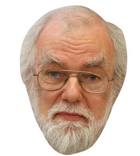 A Cardboard Celebrity Big Head of Dr Rowan Williams