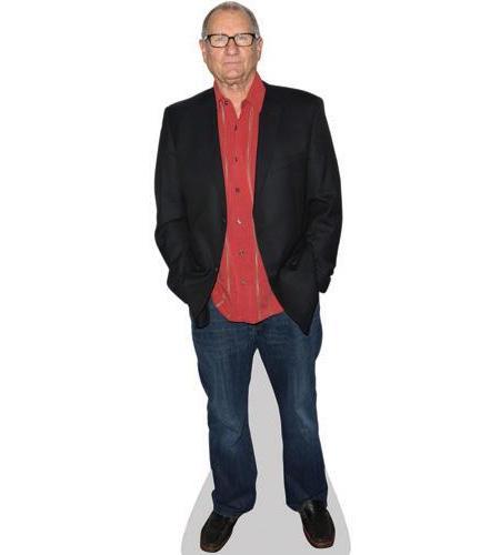 A Lifesize Cardboard Cutout of Ed O'Neill wearing a red shirt