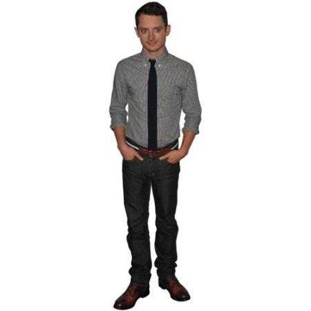 A Lifesize Cardboard Cutout of Elijah Wood wearing a tie