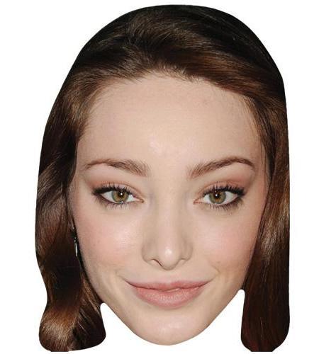 A Cardboard Celebrity Big Head of Emma Dumont
