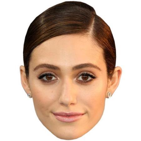A Cardboard Celebrity Big Head of Emmy Rossum