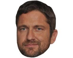 A Cardboard Celebrity Mask of Gerard Butler