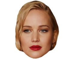 A Cardboard Celebrity Mask of Jennifer Lawrence
