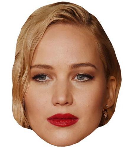 A Cardboard Celebrity Big Head of Jennifer Lawrence