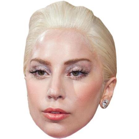 A Cardboard Celebrity Big Head of Lady Gaga