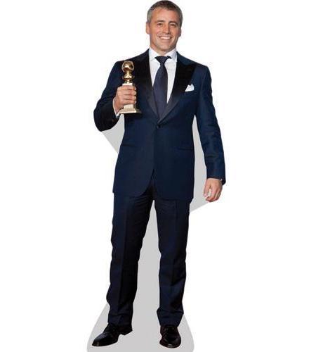 A Lifesize Cardboard Cutout of Matt LeBlanc holding a trophy