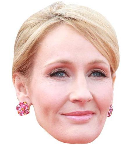 A Cardboard Celebrity Big Head of JK Rowling