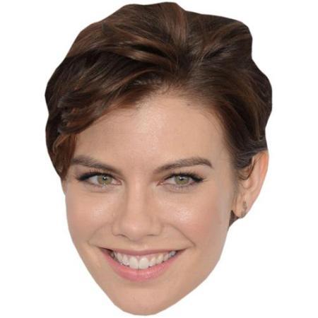 A Cardboard Celebrity Big Head of Lauren Cohan