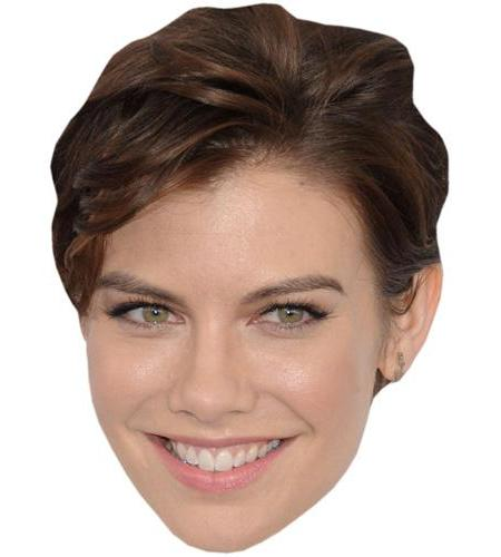 A Cardboard Celebrity Big Head of Lauren Cohan