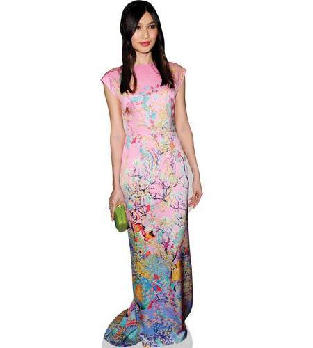 A Lifesize Cardboard Cutout of Gemma Chan