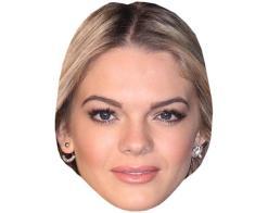 A Cardboard Celebrity Mask of Louisa Johnson
