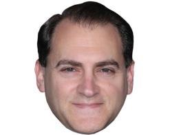 A Cardboard Celebrity Mask of Michael Stuhlbarg