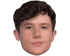 A Cardboard Celebrity Mask of Ryan Lawrie