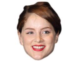 A Cardboard Celebrity Mask of Sophie Rundle