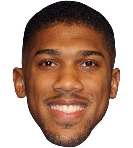 A Cardboard Celebrity Big Head of Anthony Joshua