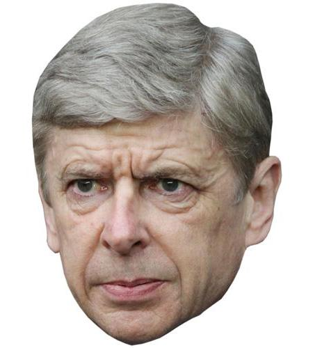 A Cardboard Celebrity Big Head of Arsene Wenger