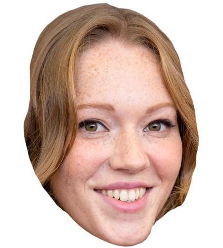 A Cardboard Celebrity Big Head of Charlotte Spencer