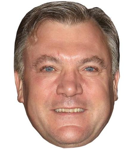 A Cardboard Celebrity Mask of Ed Balls