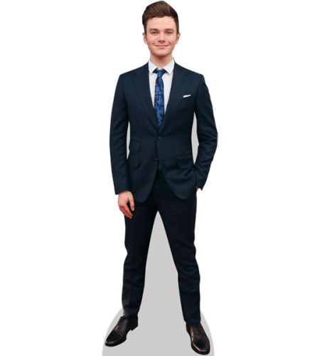 Cory Monteith lifesize Cardboard Cutout Standee. Grey Suit