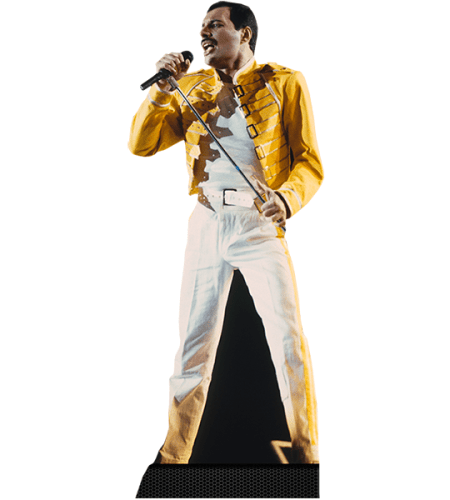 Freddie Mercury (Yellow Jacket) Cardboard-Cutout