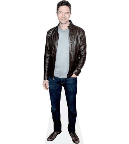 Topher Grace (Leather Jacket)