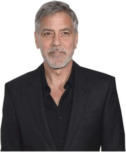 George Clooney (Black Suit) Cardboard Buddy Cutout