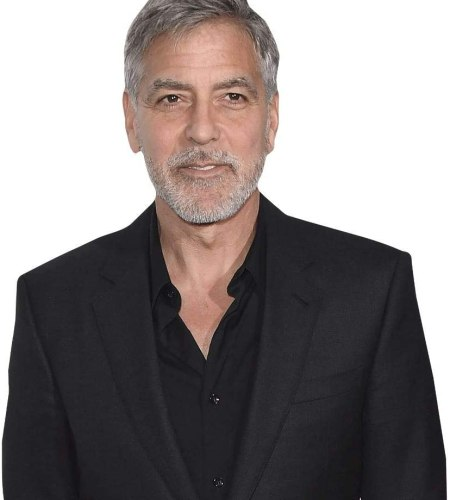 George Clooney (Black Suit) Cardboard Buddy Cutout