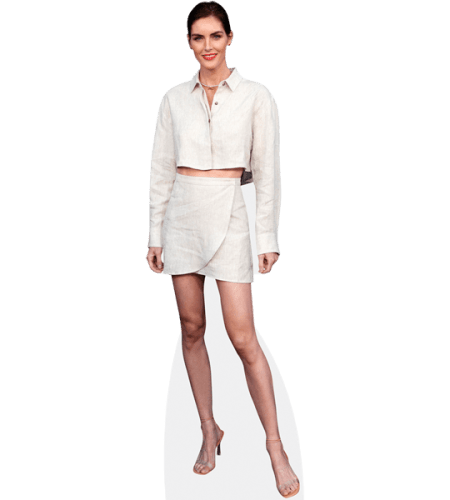 Hilary Rhoda (White Outfit)