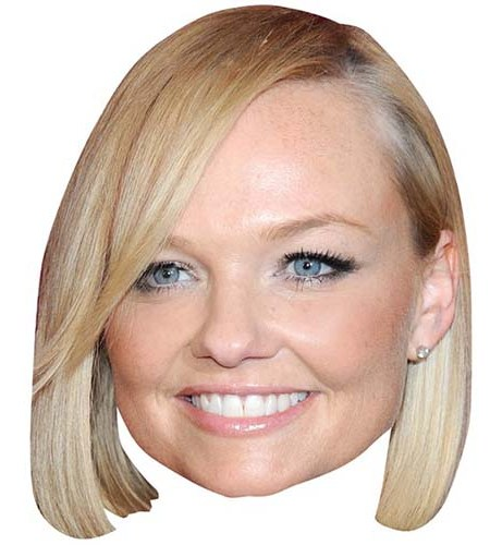 A Cardboard Celebrity Mask of Emma Bunton