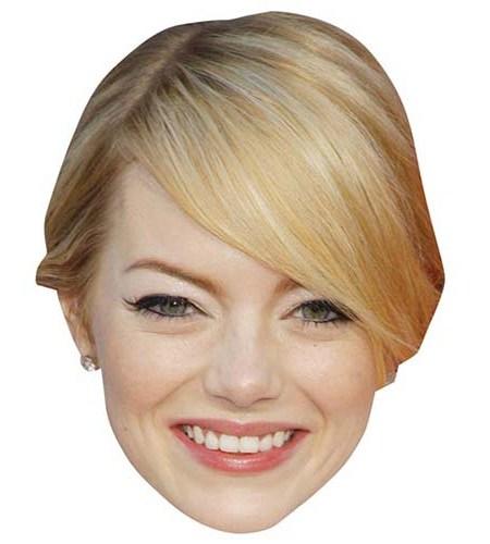 A Cardboard Celebrity Mask of Emma Stone