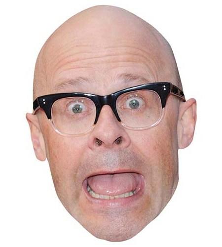 A Cardboard Celebrity Mask of Harry Hill