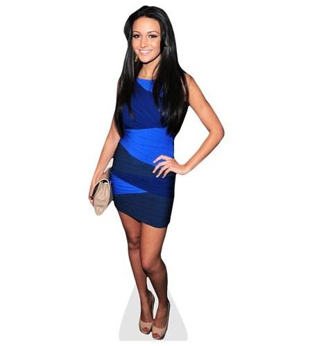 Michelle Keegan blue dress
