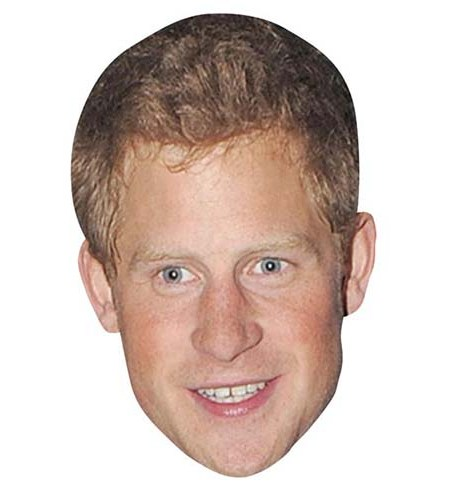 A Cardboard Celebrity Mask of Prince Harry