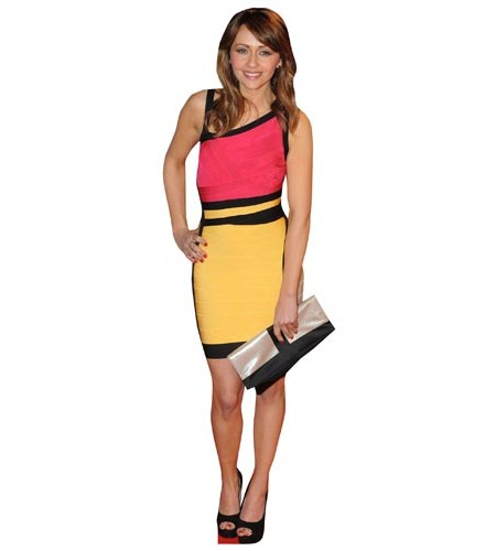 A Lifesize Cardboard Cutout of Samia Ghadie wearing a short dress