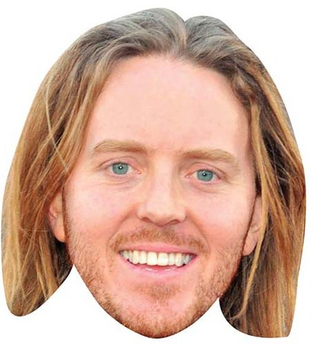 A Cardboard Celebrity Mask of Tim Minchin