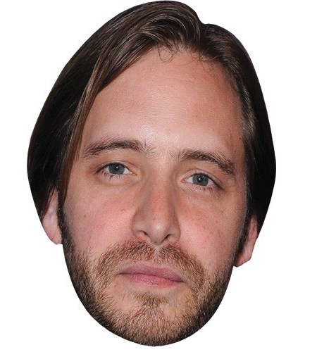 A Cardboard Celebrity Mask of Aaron Stanford